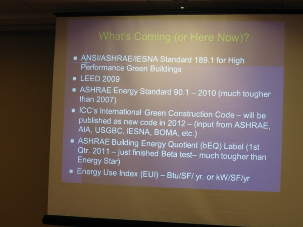 Nov., 2010 - ASHRAE DL Seminar, New Jersey