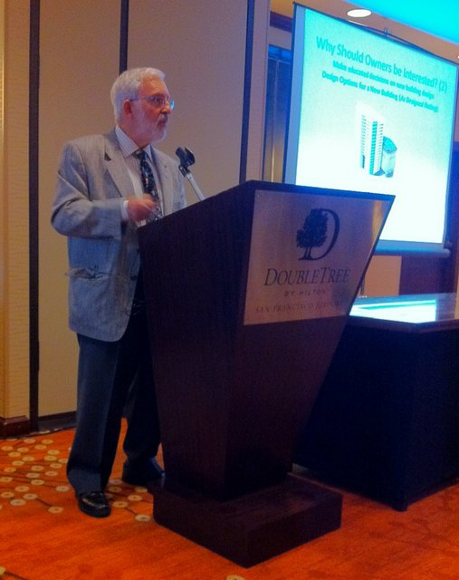 Jim Newman delivers and ASHRAE DL Lecture on Greening Existing Buildings