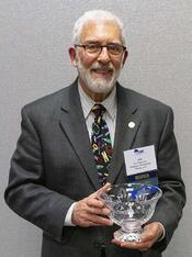 Jim Newman accepts ESD Fletcher Award