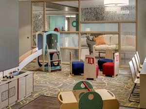 Playroom at Ronald McDonald House Detroit IAQ